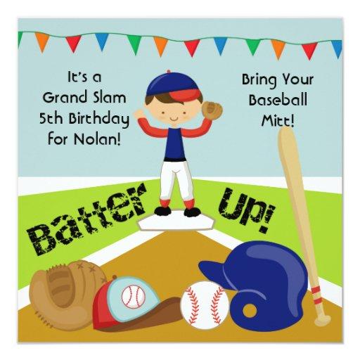 Invitación de encargo del cumpleaños del béisbol
