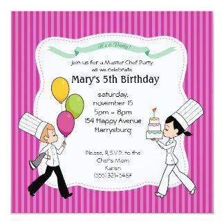 Invitación de encargo del fiesta de los niños con invitación 13,3 cm x 13,3cm