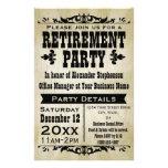 Invitación de encargo del fiesta de retiro del paí tarjetas informativas