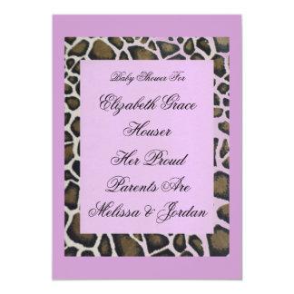 Invitación de encargo del fiesta del leopardo de