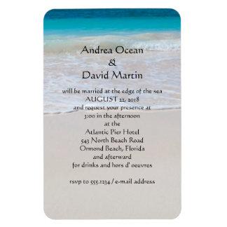 Invitación de encargo del imán del boda de playa d