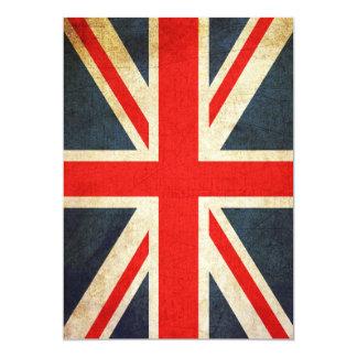 Invitación de encargo elegante de Union Jack