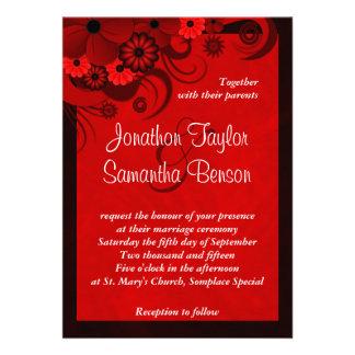 Invitación de encargo floral del boda del hibisco