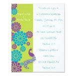 Invitación de encargo floral del boda del pavo