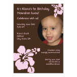 Invitación de encargo hawaiana del cumpleaños de invitación 12,7 x 17,8 cm