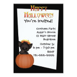 Invitación de encargo linda de Halloween del gato Invitación 12,7 X 17,8 Cm
