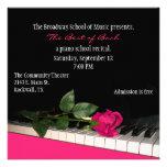 Invitación de encargo negra y rosada elegante del