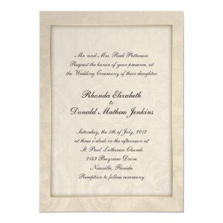 Invitación de encargo poner crema elegante del invitación 12,7 x 17,8 cm