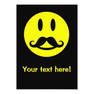 Invitación de encargo sonriente del bigote
