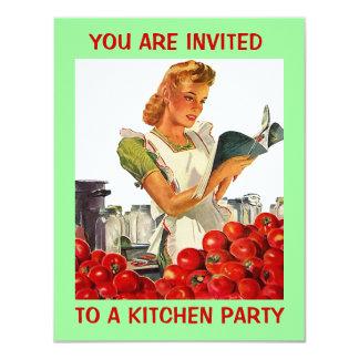 Invitación de enlatado casera del fiesta de Econ