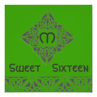 Invitación de estilo celta Card-Cust. del dulce