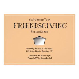 """¡Invitación de FRIENDSGIVING!  ¡- Personalizable! Invitación 5"""" X 7"""""""