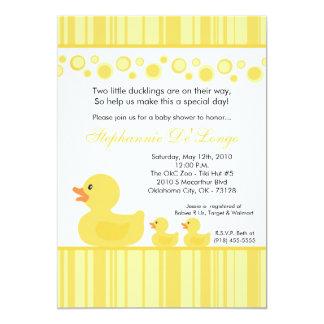 invitación de goma amarilla GEMELA de la fiesta de