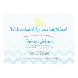 Invitación de goma de la fiesta de bienvenida al invitación 12,7 x 17,8 cm