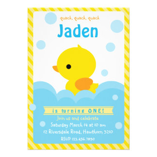 Invitación de goma del pato invitación del pato