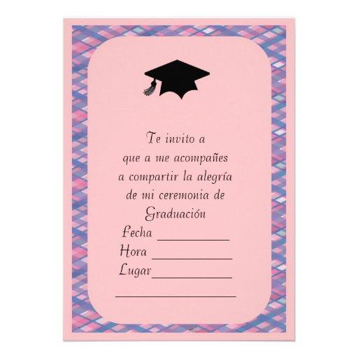 invitacion de graduacion 5 u0026quot  x 7 u0026quot  invitation card