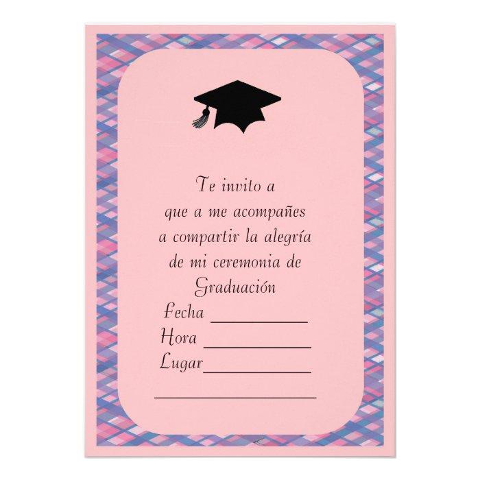 Invitaciones De Graduacion En Espanol