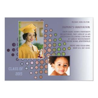 Invitación de graduación de la graduación de la invitación 12,7 x 17,8 cm