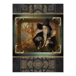 Invitación de gran tamaño mágica de los magos invitación 16,5 x 22,2 cm