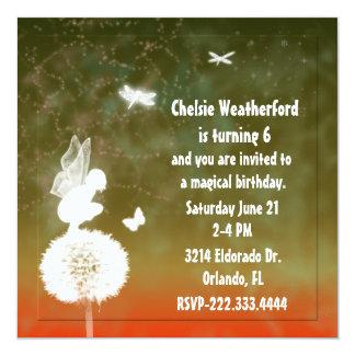 Invitación de hadas de la fiesta del cumpleaños