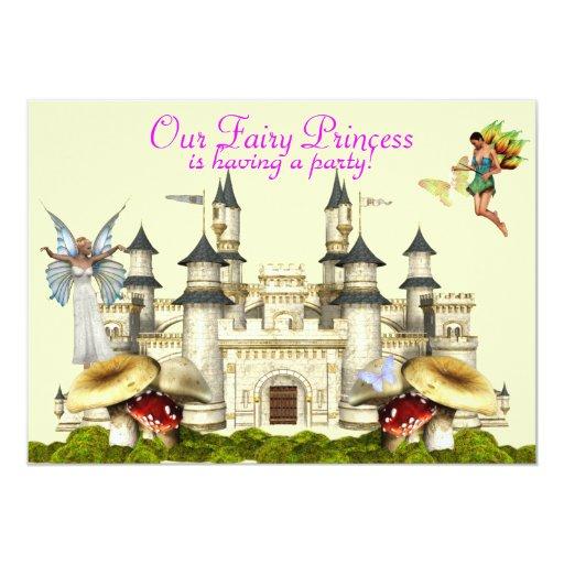 invitación de hadas de la princesa invitación 12,7 x 17,8 cm