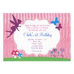 Invitación de hadas del cumpleaños del jardín