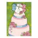 Invitación de hadas del primero del pastel de boda