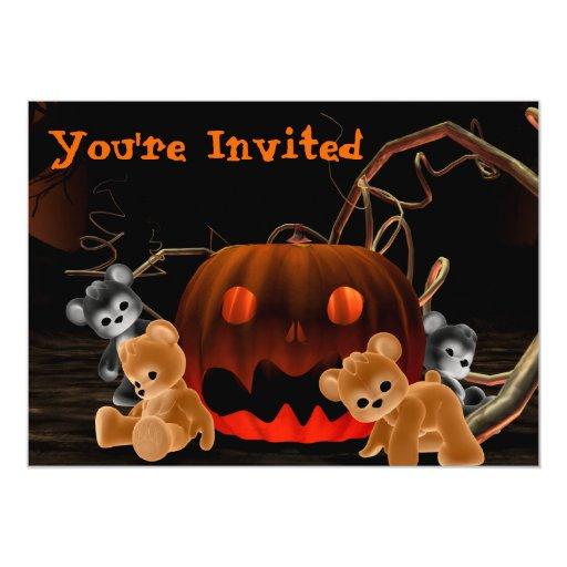 Invitación de Halloween Bearz #1