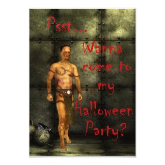 Invitación de Halloween de Frankie
