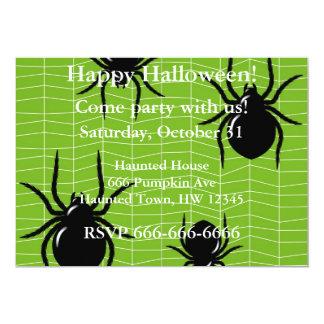 Invitación de Halloween de la araña