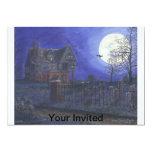 Invitación de Halloween de la casa encantada Invitación 12,7 X 17,8 Cm