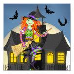 Invitación de Halloween de la casa encantada del
