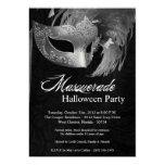 invitación de Halloween de la mascarada de la Invitación 12,7 X 17,8 Cm