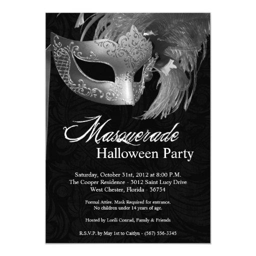 invitación de Halloween de la mascarada de la