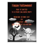 Invitación de Halloween de la momia