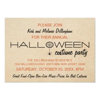 Invitación de Halloween de la tipografía de