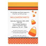invitación de Halloween de las pastillas de carame