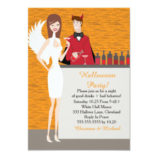 Invitación de Halloween de los ángeles y de los