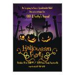 Invitación de Halloween de los numeritos del cemen