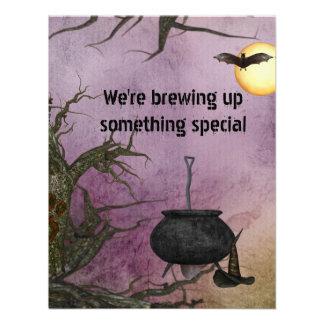 Invitación de Halloween del Brew de la bruja