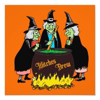 Invitación de Halloween del Brew de las brujas