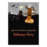 Invitación de Halloween del cementerio del RASGÓN
