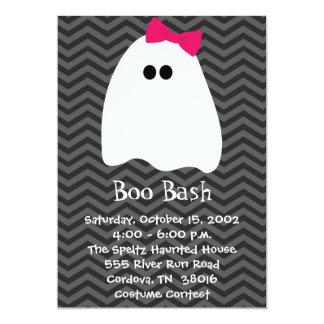 Invitación de Halloween del fantasma del chica