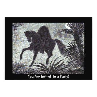 Invitación de Halloween del jinete sin cabeza