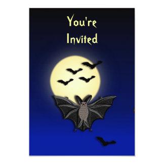 Invitación de Halloween del palo Invitación 12,7 X 17,8 Cm