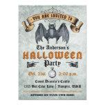 Invitación de Halloween del palo de vampiro del