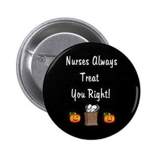 Invitación de Halloween para las enfermeras Pin