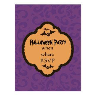 Invitación de Halloween Postal