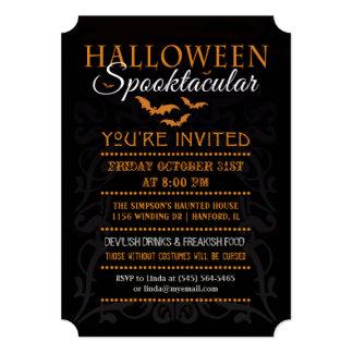 Invitación de Halloween Spooktacular - naranja y