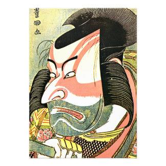 Invitación de Ichikawa actor el Ebizo de Hokusai